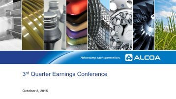 3 Quarter Earnings Conference