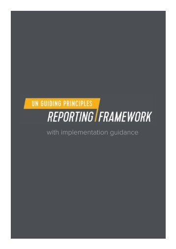UN Guiding Principles Reporting Framework Feb2015