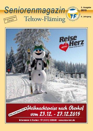 Seniorenmagazin Teltow-Fläming - 5. Ausgabe 2015