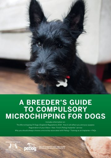 A BREEDER'S GUIDE TO COMPULSORY MICROCHIPPING FOR DOGS