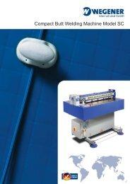 Compact Butt Welding Machine Model SC
