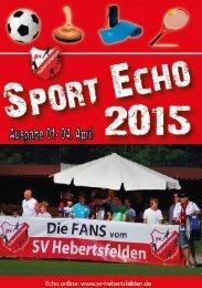 Sport Echo Ausgabe 1-2015