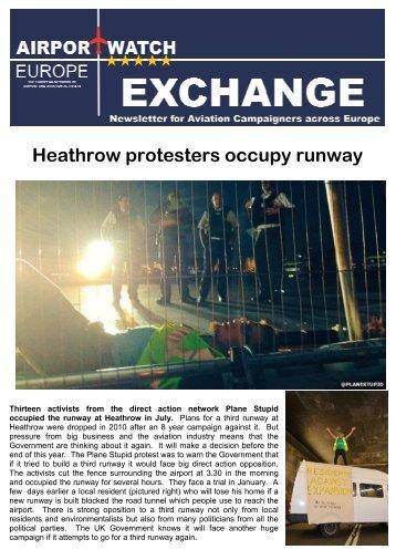 Heathrow protesters occupy runway