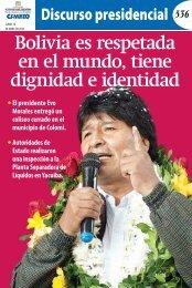 Bolivia es respetada en el mundo tiene dignidad e identidad