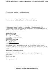 S-Nitrosothiol signaling in respiratory biology - American Journal of ...