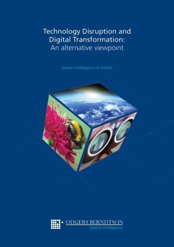 Technology Disruption and Digital Transformation An alternative viewpoint