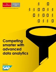 Competing smarter with advanced data analytics