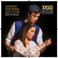 ADVANCED PERFORMING ARTS TUITION FOR 16 PLUS