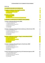 STUDIENHANDBUCH DES FACHBEREICHS MASCHINENBAU ...