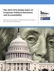 The 2015 CPA-Zicklin Index of Corporate Political Disclosure and Accountability