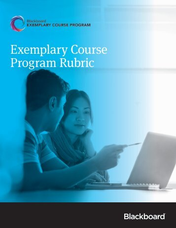 Exemplary Course Program Rubric