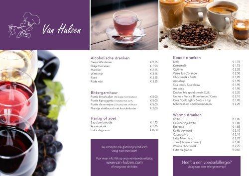 www.van-hulzen.com Heeft u een voedselallergie?