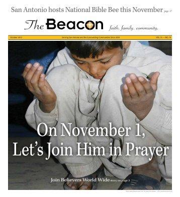 On November 1 Let's Join Him in Prayer