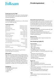 Försäkringsbesked - Arvika kommun