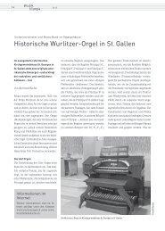 Sinfonieorchester und Brass Band im Orgelgehäuse: Historische Wurlitzer-Orgel in St. Gallen