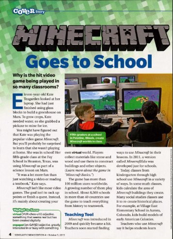 Minecraft Goes to School