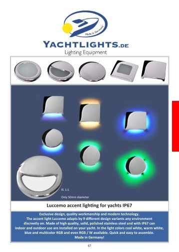 Yachtlights Luccemo accent lights 10.2015