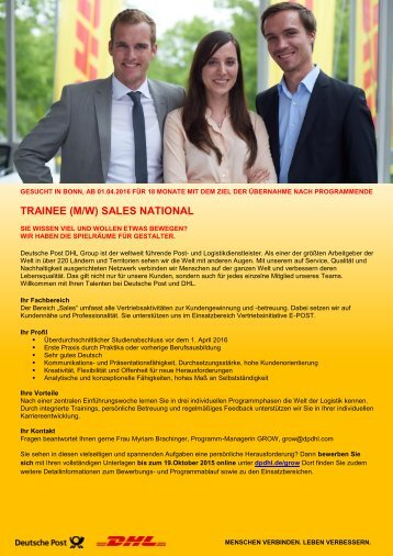 Trainee Sales National