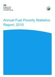 Annual Fuel Poverty Statistics Report 2015