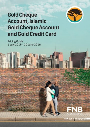 Gold Cheque Account Islamic Gold Cheque Account and Gold Credit Card
