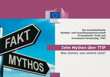 Zehn Mythen über TTIP