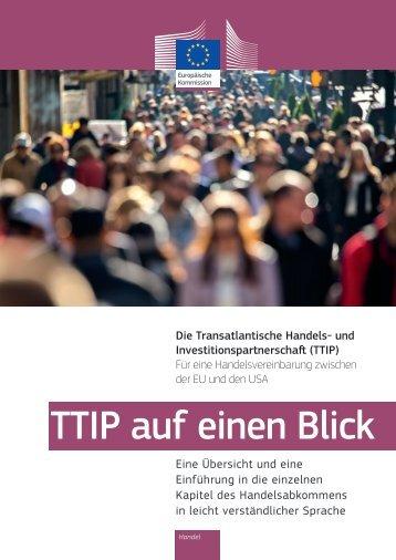 TTIP auf einen Blick
