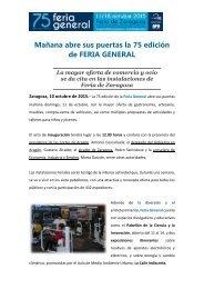 Mañana abre sus puertas la 75 edición de FERIA GENERAL