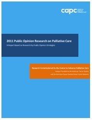 2011 Public Opinion Research on Palliative Care