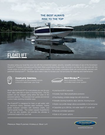 download pdf sales sheet - Sunstream Boat Lifts