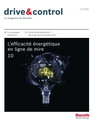 L'efficacité énergétique en ligne de mire 10 - Bosch Rexroth