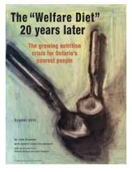 """The """"Welfare Diet"""" 20 years later"""