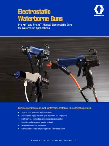 Electrostatic Waterborne Guns