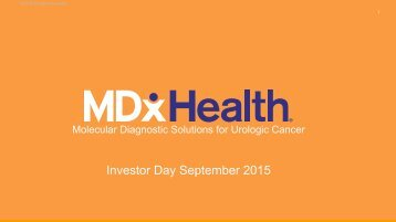 Investor Day September 2015