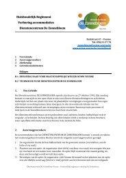 Huishoudelijk Reglement Verhuring accommodaties Dienstencentrum De Zonnebloem