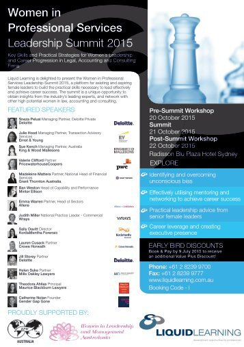 Women in Professional Services Leadership Summit 2015