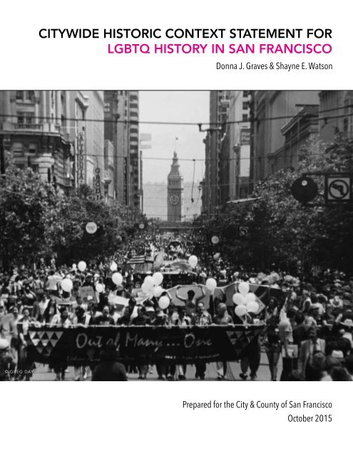 CITYWIDE HISTORIC CONTEXT STATEMENT FOR LGBTQ HISTORY IN SAN