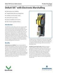 DeltaV SIS with Electronic Marshalling