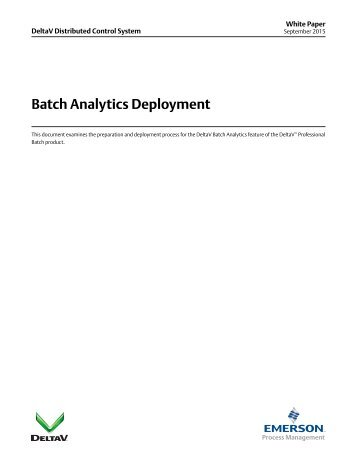 Batch Analytics Deployment