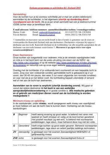 http://www.peddelpraat.nl/index.php/waden-kustvaren niveauaanduidingen