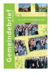 April / Mai 2011 - Evangelisch-lutherischen Kirchengemeinde Sande