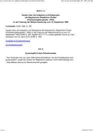 Art. 6 Gesetz über die Aufgaben und Befugnisse der Bayerischen Staatlichen Polizei _(Polizeiaufgabengesetz - PAG_) in der Fassung