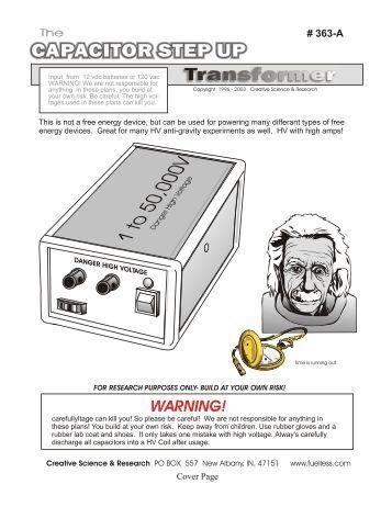 how to make a step up transformer pdf