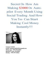 Discover How You Can Start Making At Least $3,000 Monthly On Autopilot From Social Trading Program