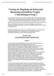 Vertrag zur Regelung aus Krieg und Besatzung entstandener Fragen (Überleitungsvertrag)