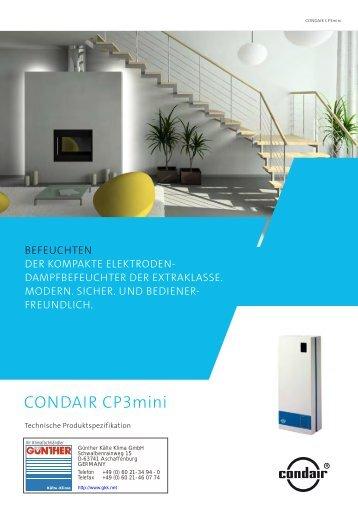 Condair CP3mini - Günther Kälte-Klima GmbH