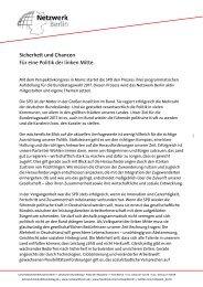 Netzwerk Berlin - Sicherheit und Chancen