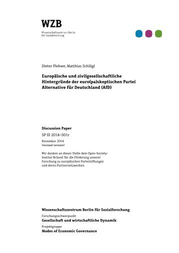 Hintergründe der euro(pa)skeptischen Partei Alternative für Deutschland (AfD)