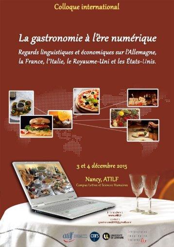 www.atilf.fr contact gastronum2015@gmail.com