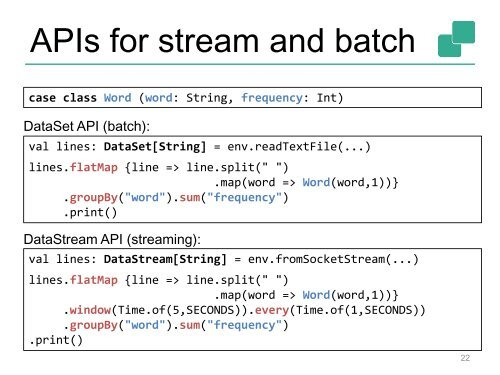 Architecture of Flink's Streaming Runtime