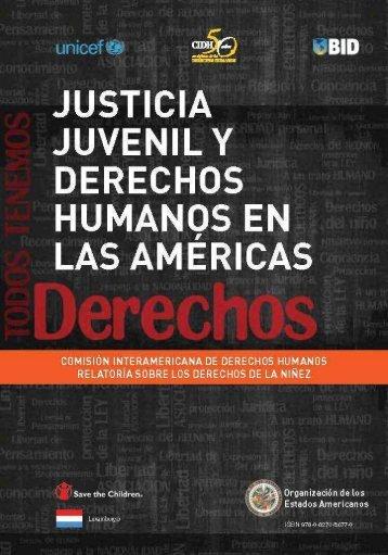 JUSTICIA JUVENIL Y DERECHOS HUMANOS EN LAS AMÉRICAS
